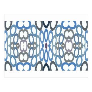 Hoopla Cool Blue Postcard