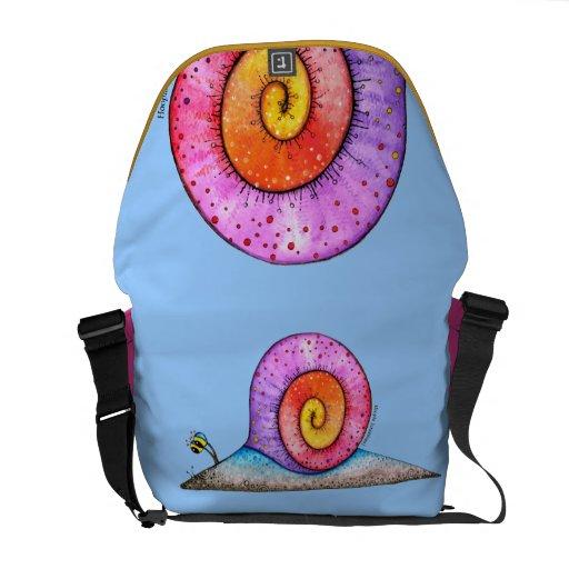 Hoopla Snail Messenger Bag