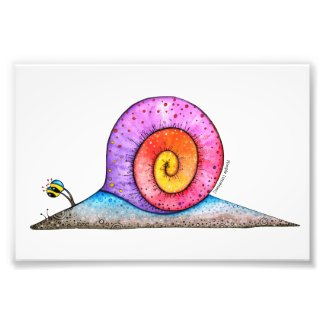 Hoopla Snail Photo Print