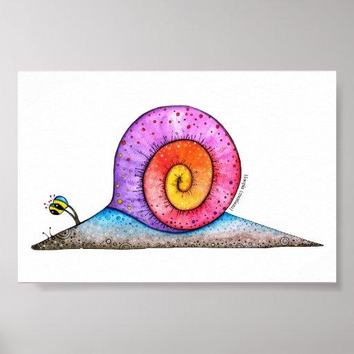 Hoopla Snail Poster