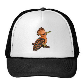 Hoopoe anaranjado gorras de camionero