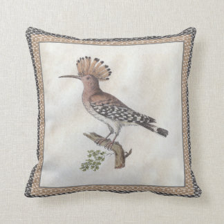 Hoopoe Antique Engraving Throw Pillow