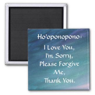 Ho'oponopono magnet-blue 2 inch square magnet