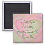 Ho'oponopono magnet-pinkheart