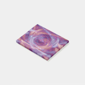Ho'oponopono Purple Smoke Post-it Notes