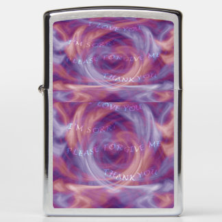 Ho'oponopono Purple Smoke Zippo Lighter