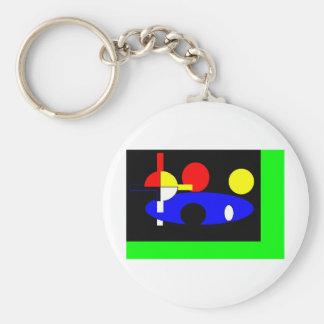 hoops3 009 basic round button keychain