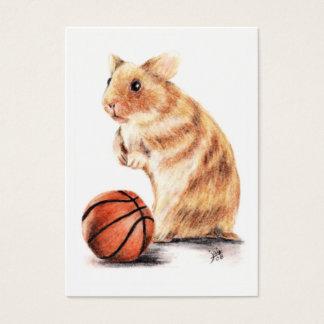 Hoops Anyone? Hamster Basketball ACEO Art Cards
