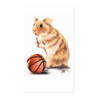 Hoops Anyone? Hamster Basketball Business Cards