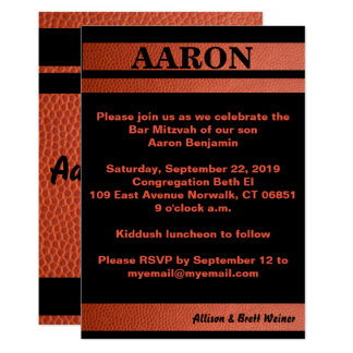Hoops Bar Mitzvah Invitation