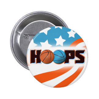 Hoops Basketball 2 Inch Round Button
