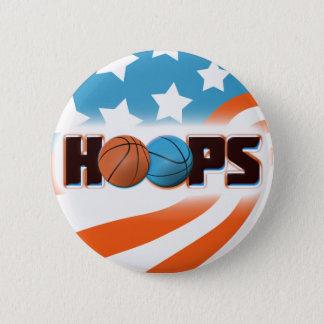 Hoops Basketball Button