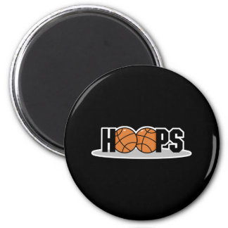 hoops basketball design 2 inch round magnet