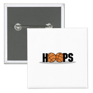 hoops basketball design 2 inch square button