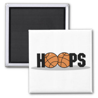 hoops basketball design 2 inch square magnet