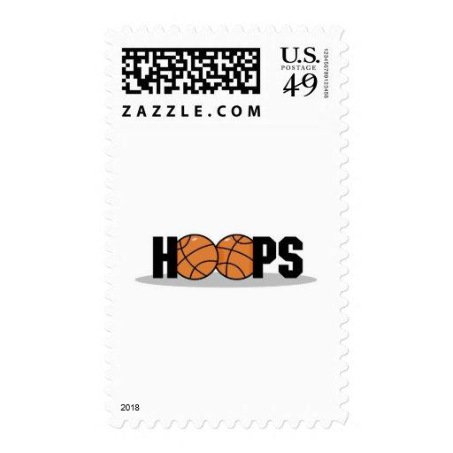 hoops basketball design postage