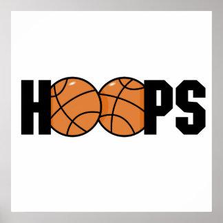 hoops basketball design poster