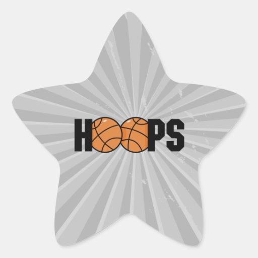 hoops basketball design star sticker
