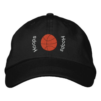 Hoops Basketball Embroidered Hat