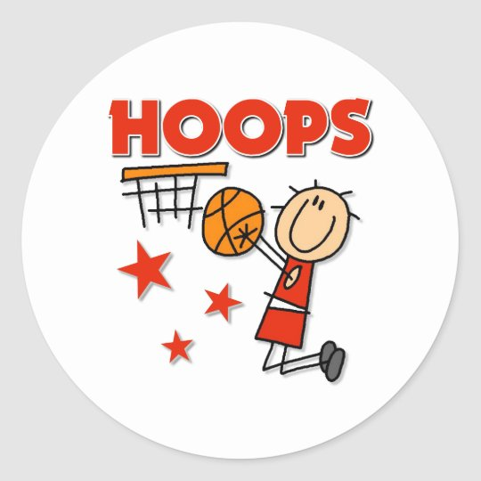 Hoops Basketball Gift Classic Round Sticker
