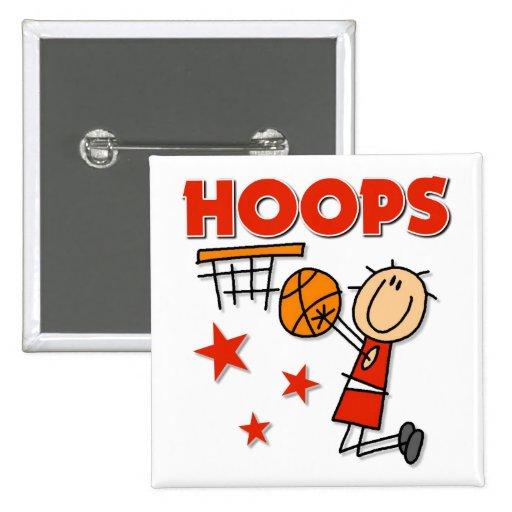 Hoops Basketball Gift Pinback Button