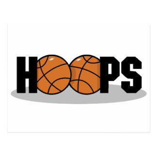 Hoops Basketball Post Cards