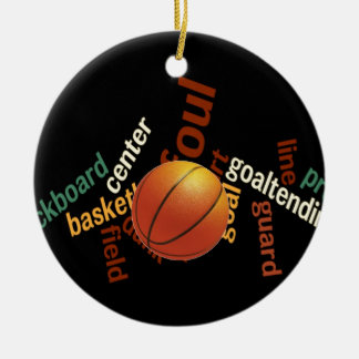 Hoops Basketball Sport Fanatics.jpg Ceramic Ornament