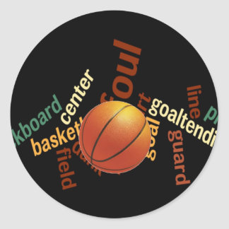 Hoops Basketball Sport Fanatics.jpg Classic Round Sticker