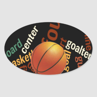 Hoops Basketball Sport Fanatics.jpg Oval Sticker