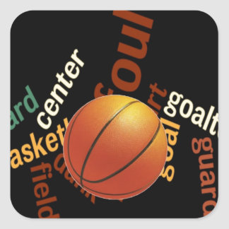 Hoops Basketball Sport Fanatics.jpg Square Sticker