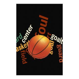 Hoops Basketball Sport Fanatics.jpg Custom Stationery