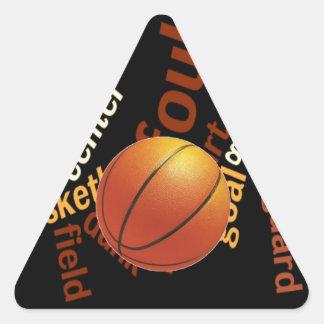 Hoops Basketball Sport Fanatics.jpg Triangle Sticker