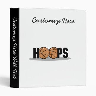 Hoops Basketball T-shirts and Gifts 3 Ring Binder