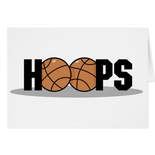 Hoops Basketball T-shirts and Gifts Greeting Card