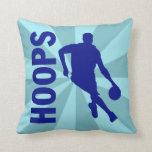 Hoops Basketball Throw Pillow