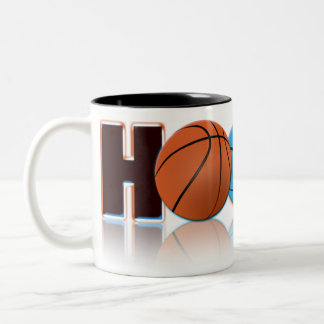 Hoops Basketball Two-Tone Coffee Mug
