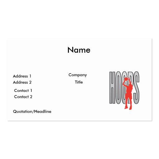hoops Double-Sided standard business cards (Pack of 100)
