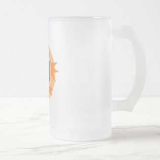 Hoops Frosted Glass Beer Mug