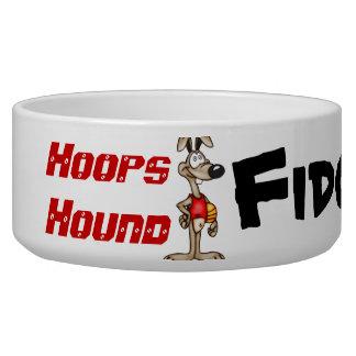 Hoops Hound Customized Dog Bowls