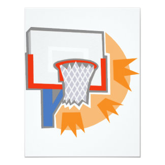 Hoops 4.25x5.5 Paper Invitation Card
