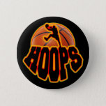 Hoops Pinback Button