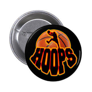 Hoops Pinback Button
