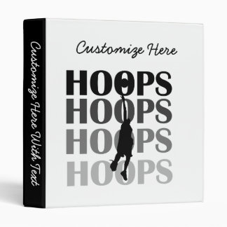 Hoops Silhouette T-shirts and Gifts 3 Ring Binder