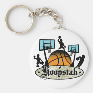 Hoopstah Color Logo Gear for Ballers Basic Round Button Keychain
