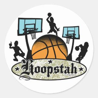 Hoopstah Color Logo Gear for Ballers Sticker
