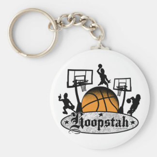 Hoopstah Logo Gear for Ballers and Hoopsters Basic Round Button Keychain