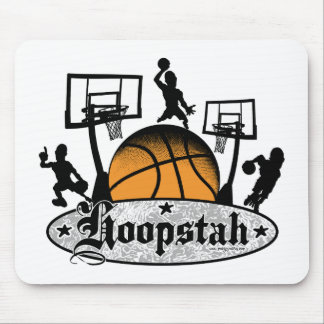 Hoopstah Logo Gear for Ballers and Hoopsters Mouse Pad