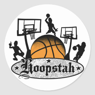 Hoopstah Logo Gear for Ballers and Hoopsters Stickers