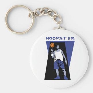 Hoopster Basic Round Button Keychain