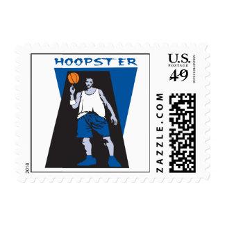hoopster basketball vector design postage